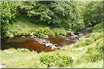SD9628 : Colden Water at Hebble Hole by Allan Friswell