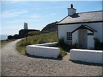SH3862 : Pilot's cottage and Twy Mawr lighthouse by Robin Drayton