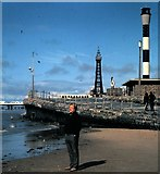 SD3035 : Slipway from Blackpool's promenade to the beach by Stanley Howe