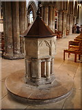 TA2609 : The Parish Church of St James, Grimsby, Font by Alexander P Kapp