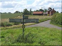 TM2754 : Lane junction near Dallinghoo, looking west by Andrew Hill