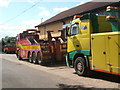 TM2654 : Colourful recovery vehicles outside business premises, Dallinghoo by Andrew Hill