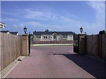 TL4197 : Oberon Park entrance by Keith Edkins