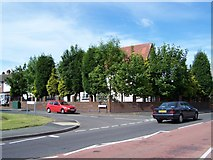 SO9096 : Elizabeth Avenue,Junction with Goldthorn Hill Road. by Annette Randle
