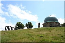 NT2674 : Folly, Nelson's monument and observatory by Duncan Grey