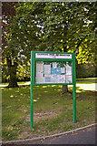 TQ3095 : Information Board, Oakwood Park, London N14 by Christine Matthews