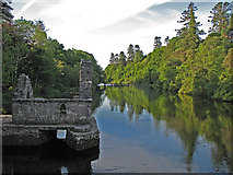 M1455 : Monks' fishing house on the Cong River by C Michael Hogan