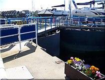 SU4208 : Lock gates, Hythe Marina by Maigheach-gheal