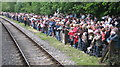 SD8022 : Crowds at Rawtenstall Station 2008 by Paul Anderson