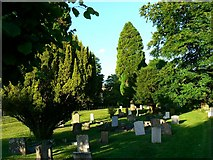 SU1872 : Churchyard, St Andrew's church, Ogbourne St Andrew, Wiltshire by Brian Robert Marshall