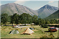NY1807 : National Trust campsite, Wasdale Head by Nigel Brown