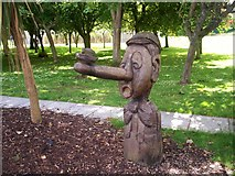 J0458 : Carving 1, Children's Garden, Tannaghmore Gardens by P Flannagan