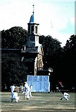TQ1977 : The church on Kew Green (1986) by Stanley Howe