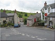 SK2354 : Brassington - Miners Arms view looking down Miners Hill by Alan Heardman