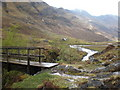 NH0017 : Glenlicht House and footbridge over Allt Grannda by Gregoire