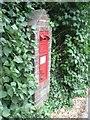 SZ0793 : Talbot Village: postbox № BH10 19, Wallisdown Road by Chris Downer