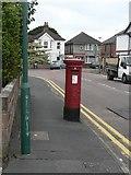 SZ0894 : Moordown: postbox № BH9 220, Highfield Road by Chris Downer