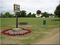 TL3949 : Barrington: The village sign by Nigel Cox