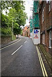 SU4828 : Looking up East Hill, Winchester by Peter Facey