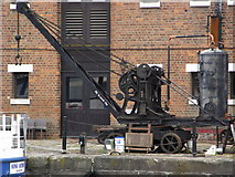 SO8218 : Steam crane, National Waterways Museum by Chris Allen