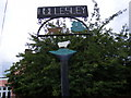 TM3544 : Hollesley Village Sign (Close Up) by Adrian Cable
