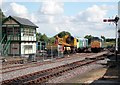 TF9913 : Dereham station yard looking south by roger geach