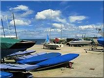 J5182 : Boatyard, Ballyholme Yacht Club by Rossographer