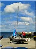 J5182 : Yacht, Ballyholme Yacht Club boatyard by Rossographer