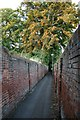 TQ2160 : Grove Road to Church Road alleyway by Hugh Craddock