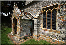 SY7699 : South Porch and Window Parish Church of St Martin - Cheselbourne by Mike Searle