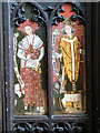 TG0321 : The church of St Thomas - rood screen detail by Evelyn Simak