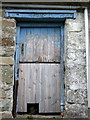 SN1448 : Old door with cat hole by ceridwen