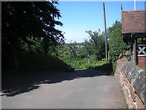 SO8483 : Lane beside St Peter's Church, Kinver by Row17