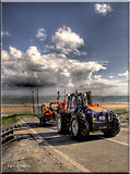 NZ6025 : Redcar lifeboat launch. by Mick Lobley