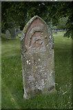 NY3916 : Gravestone, St.Patrick's church, Patterdale by Tom Richardson