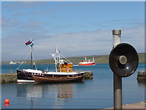 HU4741 : Boats at the new Lerwick Museum, Hay's Dock by Ruth Sharville