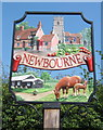 TM2743 : Newbourne village sign by Andrew Hill