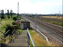 SP9122 : West Coast Main Line - Great Train Robbery site by Rob Farrow