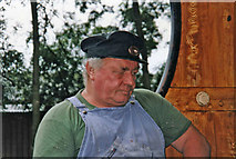 TQ4023 : Engineer in engine compartment, Sheffield Park, East Sussex by Christine Matthews