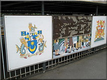 SU6400 : Panel 4 of the 1995 Mural at Portsmouth and Southsea Station by Basher Eyre