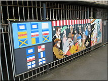 SU6400 : Panel 6 of the 1995 Mural at Portsmouth and Southsea Station by Basher Eyre
