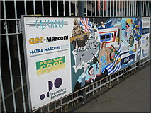 SU6400 : Panel 8 of the 1995 Mural at Portsmouth and Southsea Station by Basher Eyre