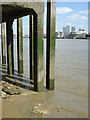 TQ3580 : Wharf at Wapping by Alan Murray-Rust