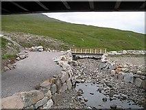 NN3468 : New road and the Allt Luib Ruairidh by Richard Webb