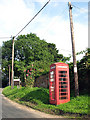 TG0719 : Old red telephone kiosk by Evelyn Simak