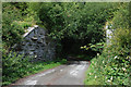 SN9772 : Railway bridge abutments, near Allt-goch by Nigel Brown