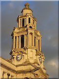SJ8989 : Clock tower, Stockport Town Hall by Andrew Smith