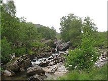 NN2868 : Waterfalls on the Abhainn Rath by Richard Webb