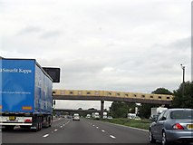 SJ7760 : M6 northbound at Sandbach services by Whatlep