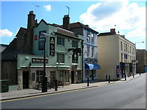 TQ7567 : Pub, Restaurant and Shops, Rochester High Street by Danny P Robinson